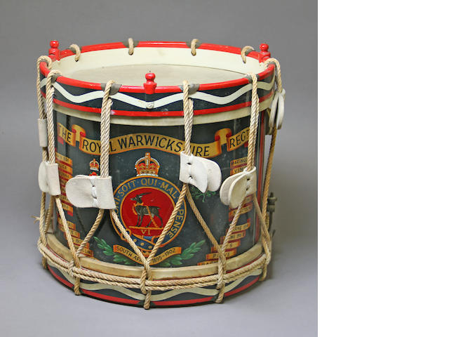 A Royal Warwickshire Regimental side drum