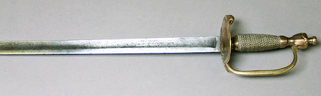 A continental infantry officer's sword