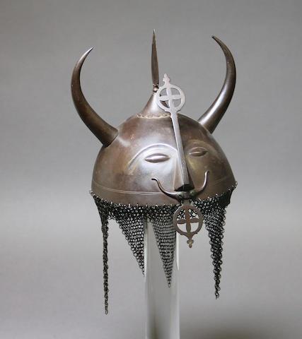 An Indian 'devil' helmet