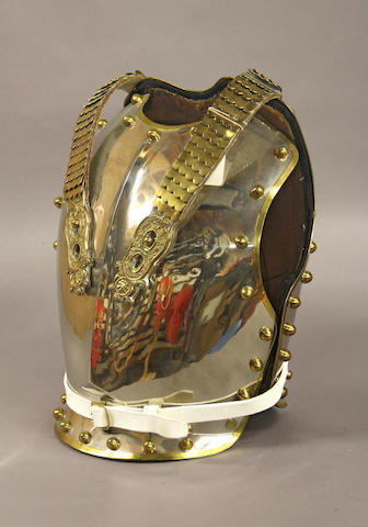 A British household cavalry trooper's breast and backplate