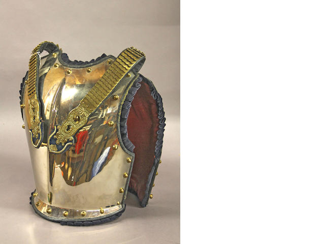 A British household cavalry officer's breast and backplate