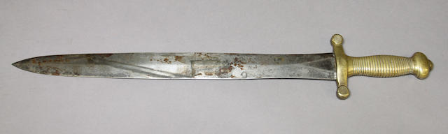 A French foot artillery short sword