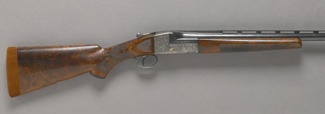A 12 gauge Ithaca Grade 5E Knick single barrel trap shotgun