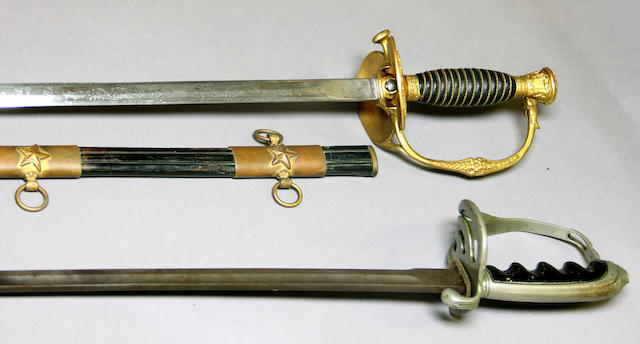 A lot of two American military swords