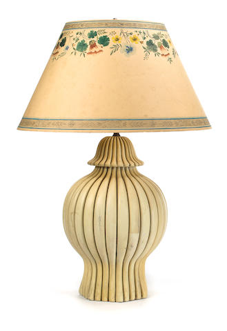 Two Edward Zajac table lamps<BR />fourth quarter 20th century