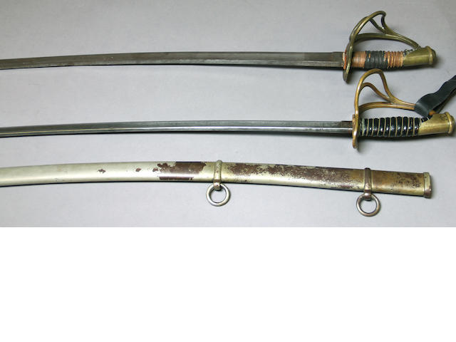 A lot of two Civil War era cavalry sabers