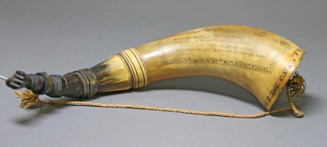 A large incised powder horn