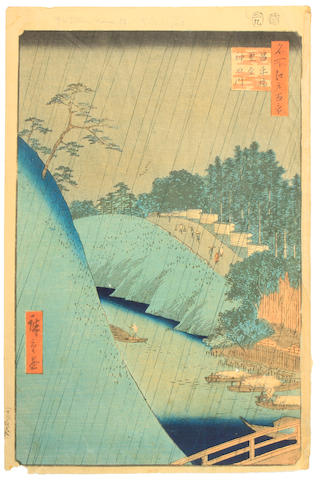 HIROSHIGE: a group of eight woodcuts. #92-99
