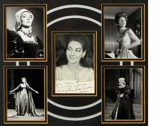 CALLAS, MARIA. 1923-1977.