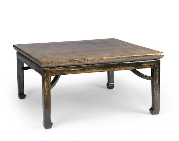 A lacquered wood kang table 19th century