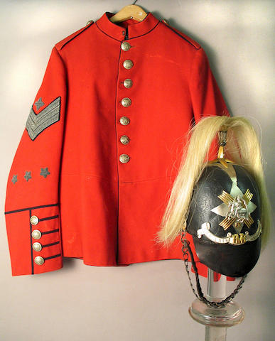 A uniform ensemble for a Sergeant Instructor of the Fifeshire Volunteer Mounted Rifles