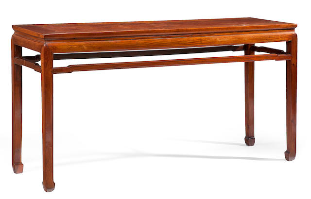 A huanghuali altar table  Qing dynasty  composed of 17th/18th century elements