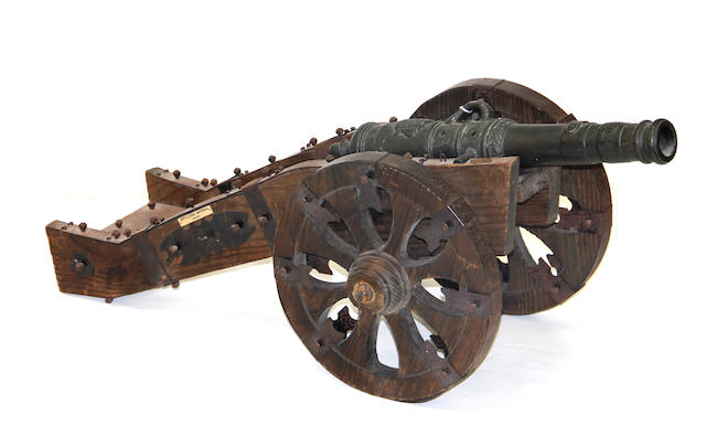 A large scale model of a 17th century field gun