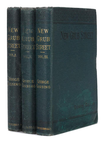 GISSING, GEORGE. 1857-1903. New Grub Street. London: Smith, Elder & Co., 1891.
