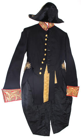 An assembled British diplomat's uniform