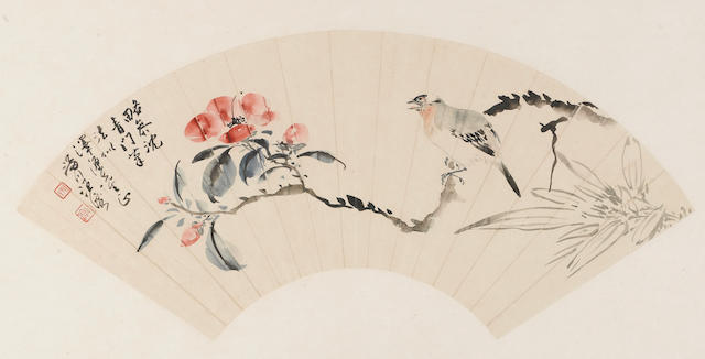 Various Artists (19th/20th century) Three paintings of Bird and Flowers or Animals