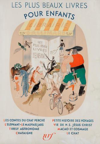 """ALTMAN, NATAN. 1889-1970. Les Plus beaux livres pour enfants.   Paris: """"nrf,"""" 1935."""