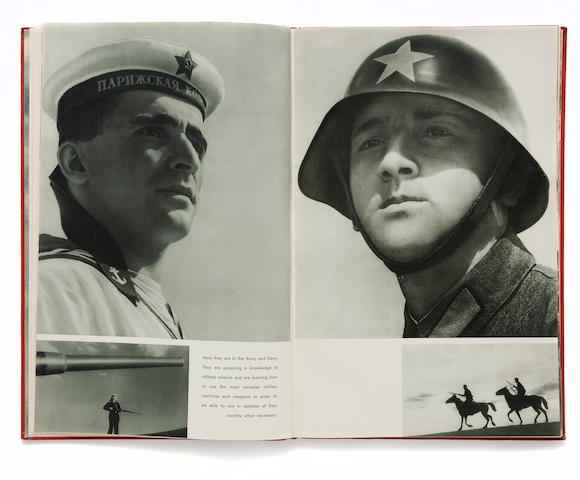 RODCHENKO, ALEKSANDR, AND VARVARA STEPANOVA. USSR: The Red Army and Navy. Moscow and Leningrad: State Art Publishers, 1939.