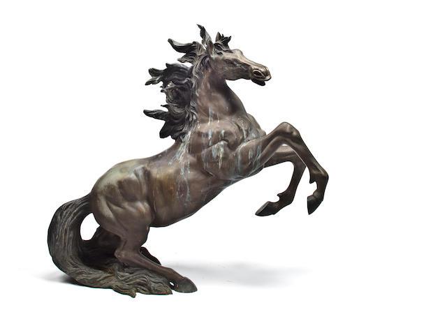 Bronze Figure Prancing Horse