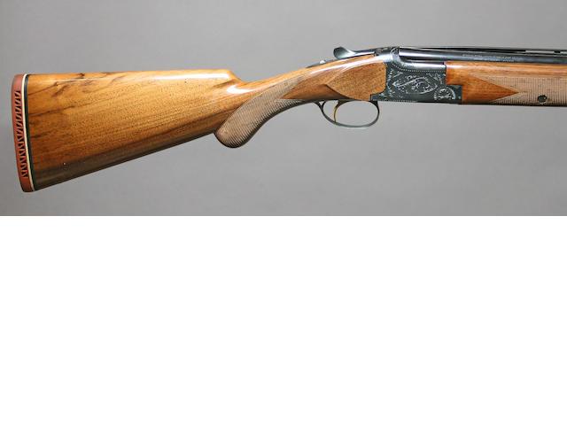 A 20 gauge Browning Lightning superposed shotgun