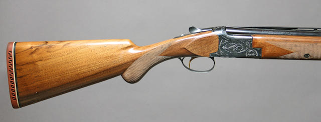 A 20 gauge Browning Lightning superposed shotgun