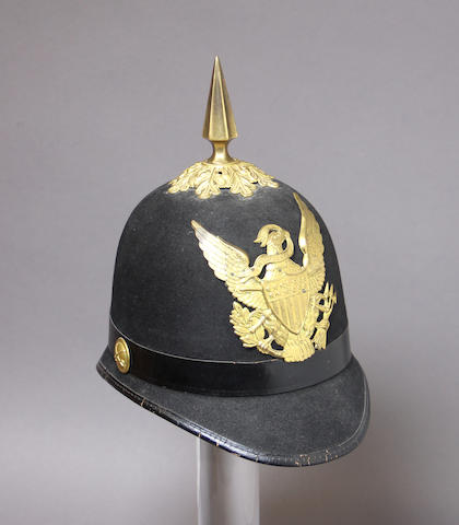 A U.S. Model 1881 cavalry trooper's dress helmet