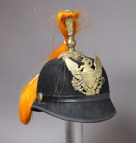 A U.S. Model 1881 officer's dress helmet