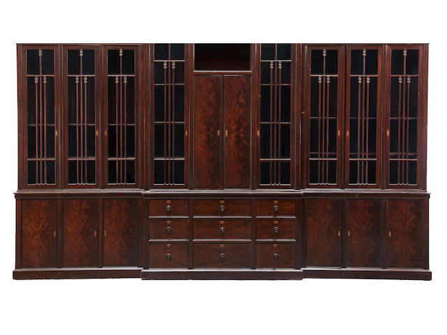 A Greene and Greene breakfront cabinet