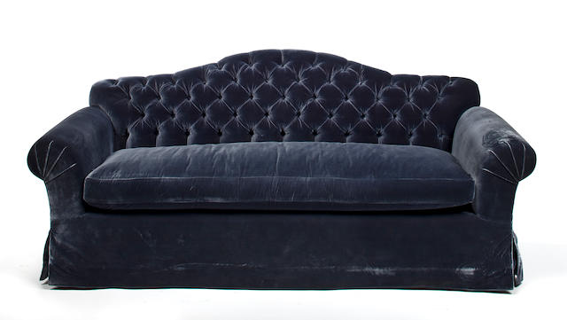 A Scalamandré velvet upholstered sofa   second half 20th century