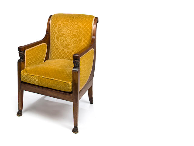 Empire mahogany Bergere. Early 19th c.