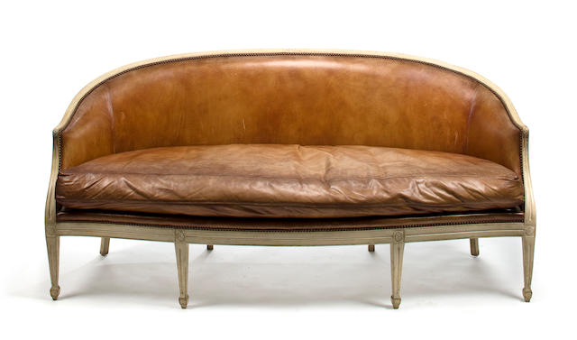 "A Louis XVI style painted and carved ""Rufino"" sofa by Michael Smith for Jasper"