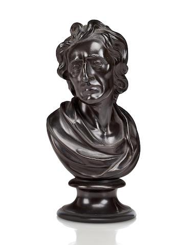 wedgwood black basalt bust of John Wesley, c. 1800