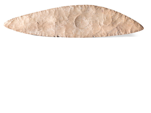 Neolithic Flint Knife with Fossil Fish Inclusion – A Rare and Important Artifact from a Distinguished Collection