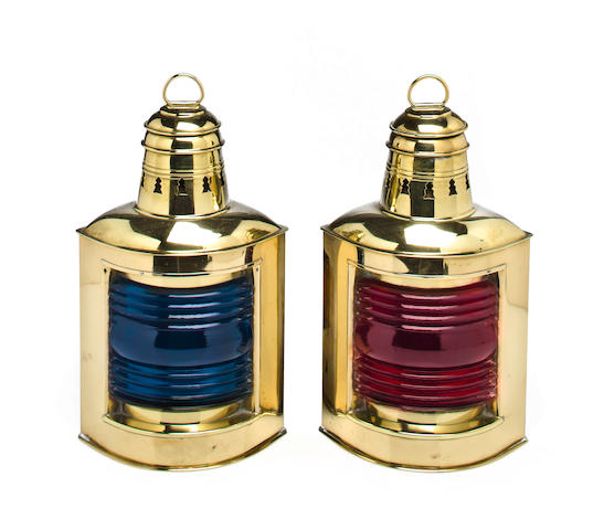 Pair of Perko Port and Starboard Lanterns
