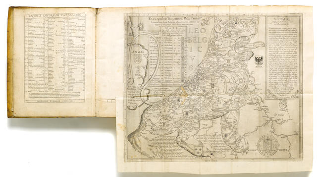 EYTZINGER, MICHAEL VON. c.1530-1598. Novus de Leone Belgico, eiusque Topographica atque, historica descriptione liber. Cologne: Franciscus Hogenberg, 1588.