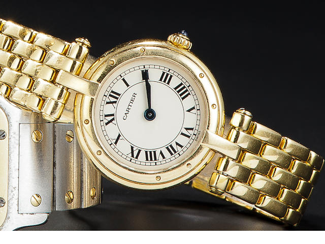 Cartier. An 18K gold lady's bracelet watchVendôme, no. 669200196
