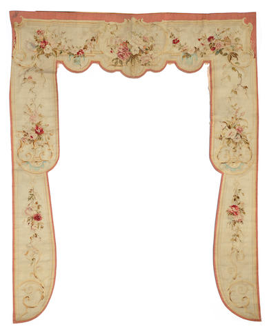 A Napoleon III Aubusson window surround