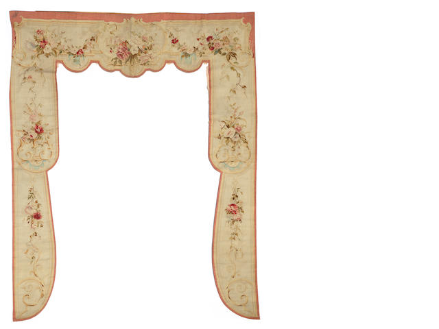 A Napoleon III Aubusson window surround <BR />third quarter 19th century