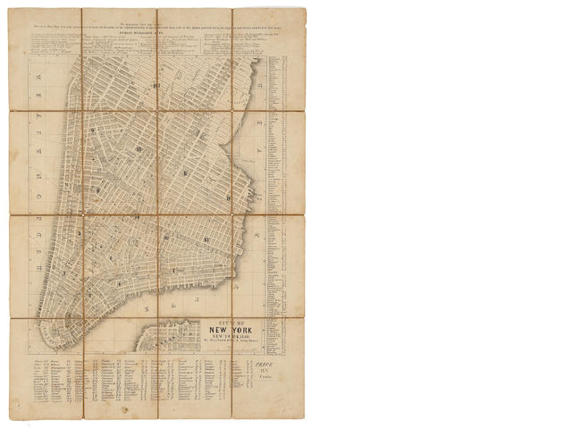 NEW YORK. City of New York. New York: Berford & Co., 1849.<BR />