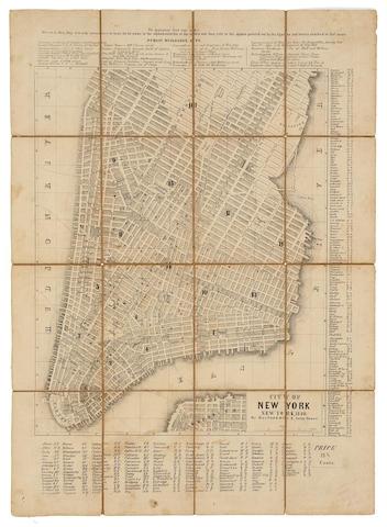 NEW YORK. City of New York. New York: Berford & Co., 1849.<BR />