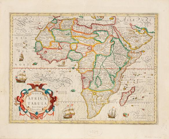 AFRICA. HONDIUS, HENRICUS. Nova Africae Tabula. [Amsterdam: 1610 or later.]