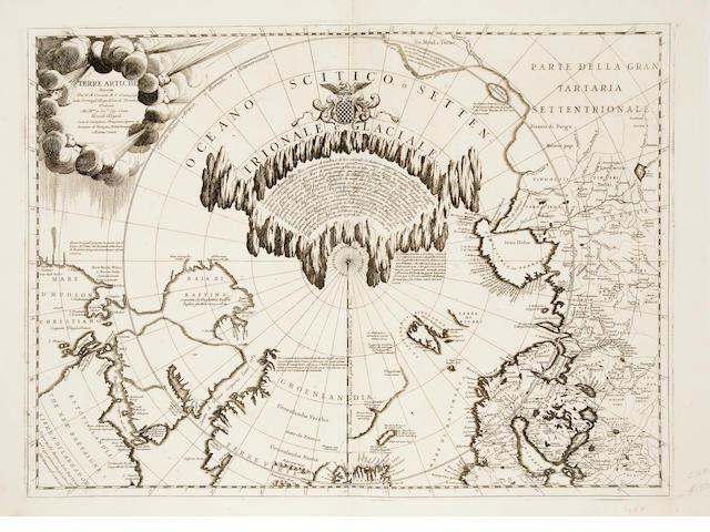 ARCTIC. CORONELLI, VICENZO MARIA. 1650-1718. Terre Artiche. [Venice: 1690s.]