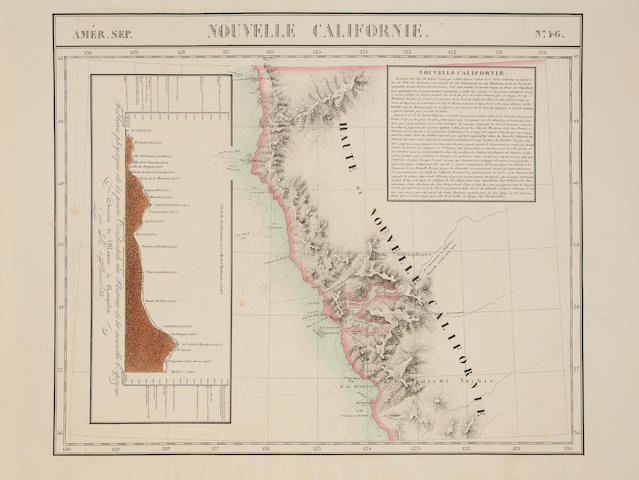 WESTERN STATES. VANDERMAELEN, P.M.G. Group of 13 lithographed maps of the Western States,