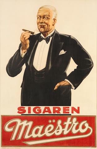 """Sigaren Maestro"": A Belgian cigar poster 1930's"
