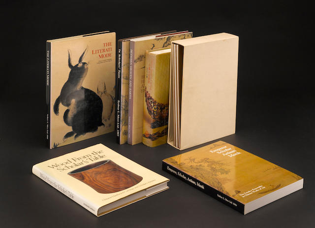 A group of books on scholar's objects and the arts of China