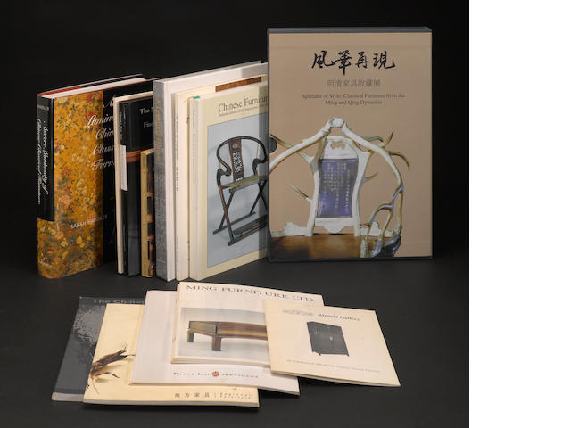 A selection of books on Chinese furniture