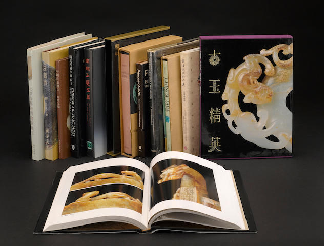 A group of books on Chinese jades