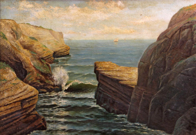 American School (20th Century) Under Point Loma, to the north, San Diego, 1916 32 x 46in