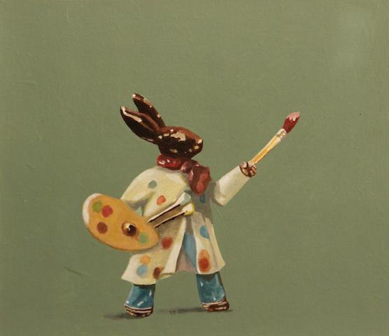 Martin Mull (American, born 1943) Chocolate bunny artist, 2003 13 x 14 3/4in