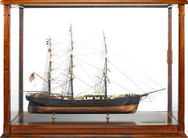 A model of the famous American clipper ship: Flying Cloud